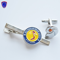 Custom Metal Gifts Wholesale Tie Pin Cufflink Set For Men