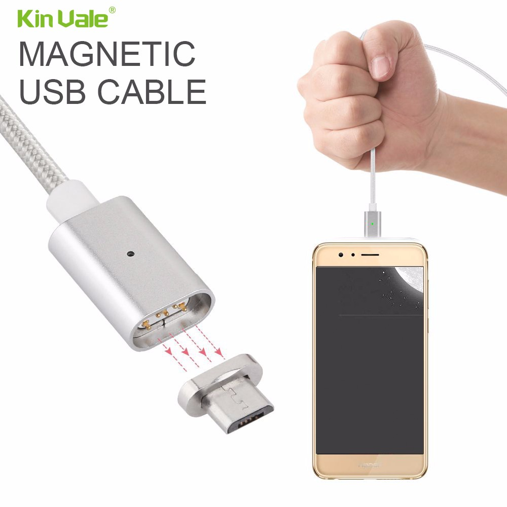 Kinvale new design black color strong magnetic mobile phone data cable cell phone charge cable