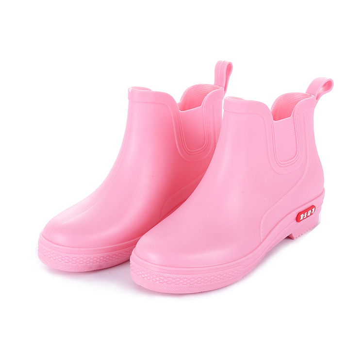 Nice quality dripdrop PVC plastic woman rain boot non slip steel toe safety rain shoes