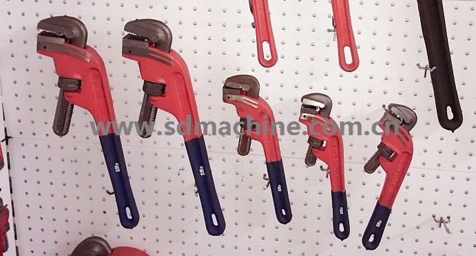Heavy Duty Offset Type Plastic Dipped Handle Pipe Wrench