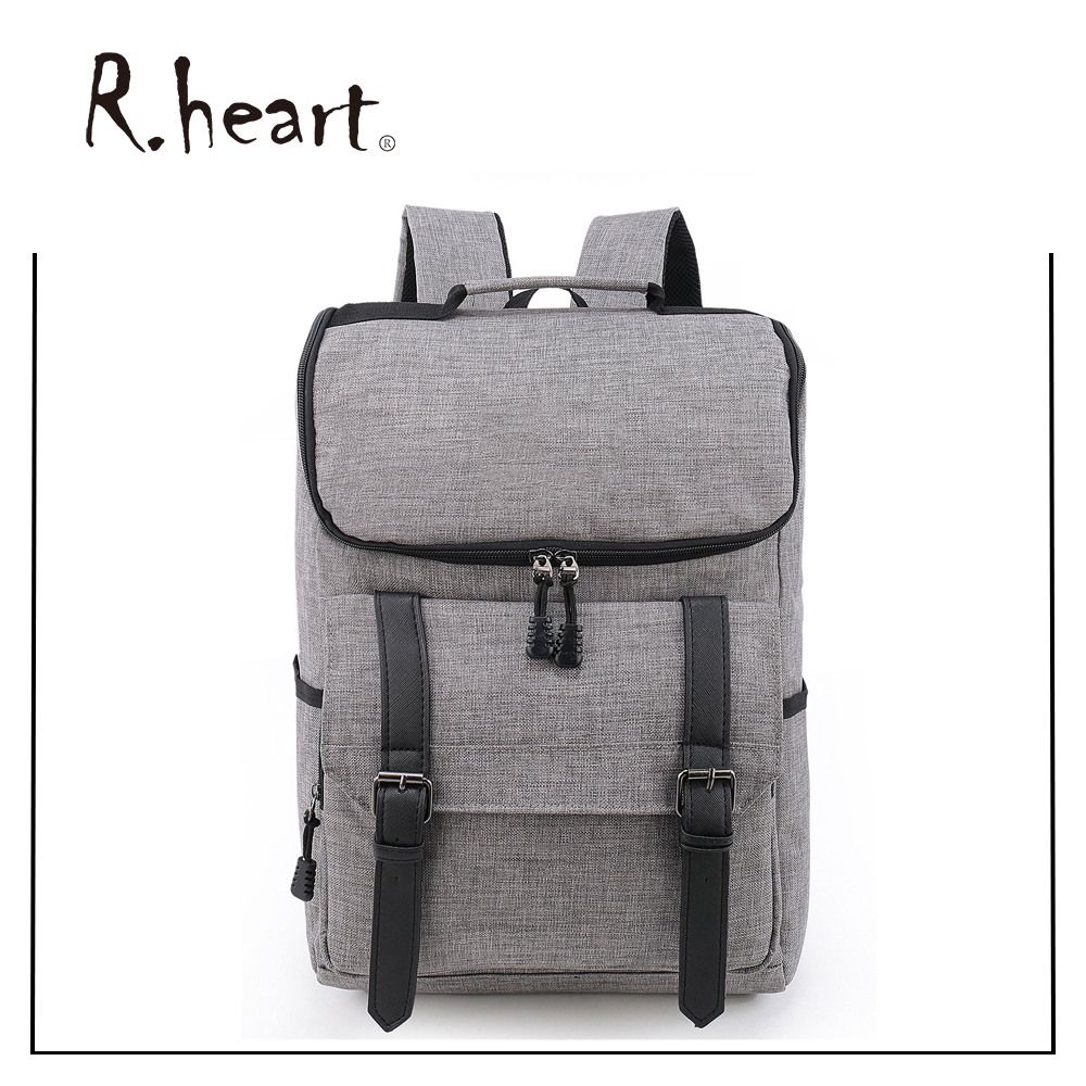 Classic durable canvas laptop backpack lightweight material for teens laptop bags backpack