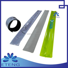 pvc reflective slap band wristband for promotional gifts