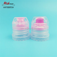 28/410 rose red and blue color sport water bottle cap with tamper evident