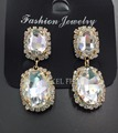 fashion 10k gold plated jewelry, crystal bead earrings, pendant crystal earrings wholesale