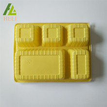 Plastic Meal Tray Disposable Food Tray Divider With Cover