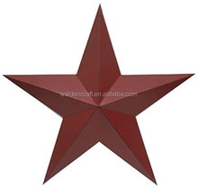 Craft Outlet Antique Star Metal Crafts Home Goods Wall Art 11-Inch Red