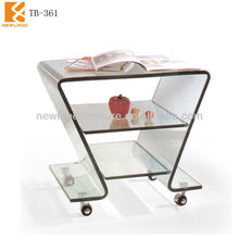 Foshan Newland furniture factory 2013 new model glass hotel coffee table (TB-361)