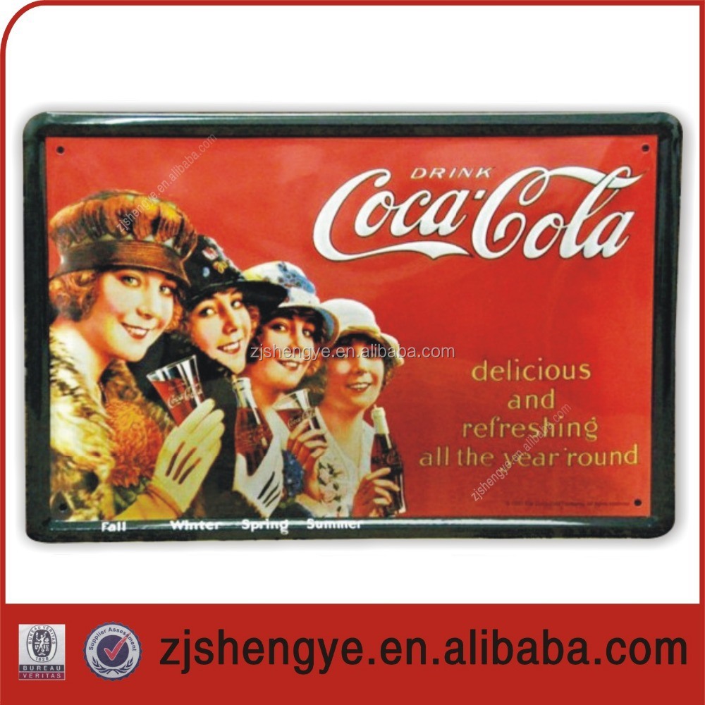 Decorative promotion Use Wholesale Vintage Metal Sign
