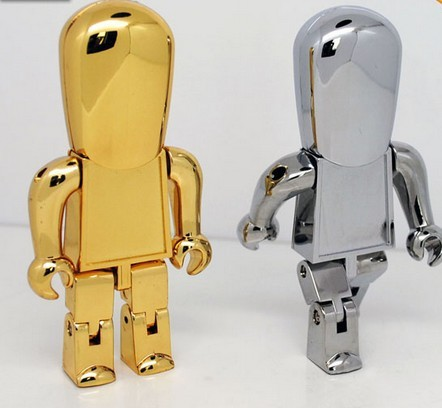 corporate gift metal robot 2.0 usb flash drive