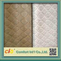 Embossed Design 2 color Tone Decorative PVC leather
