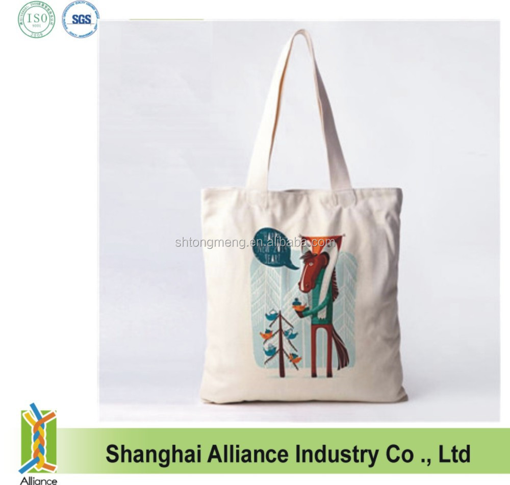 Inexpensive natural organic recyclable shopping cotton string bag