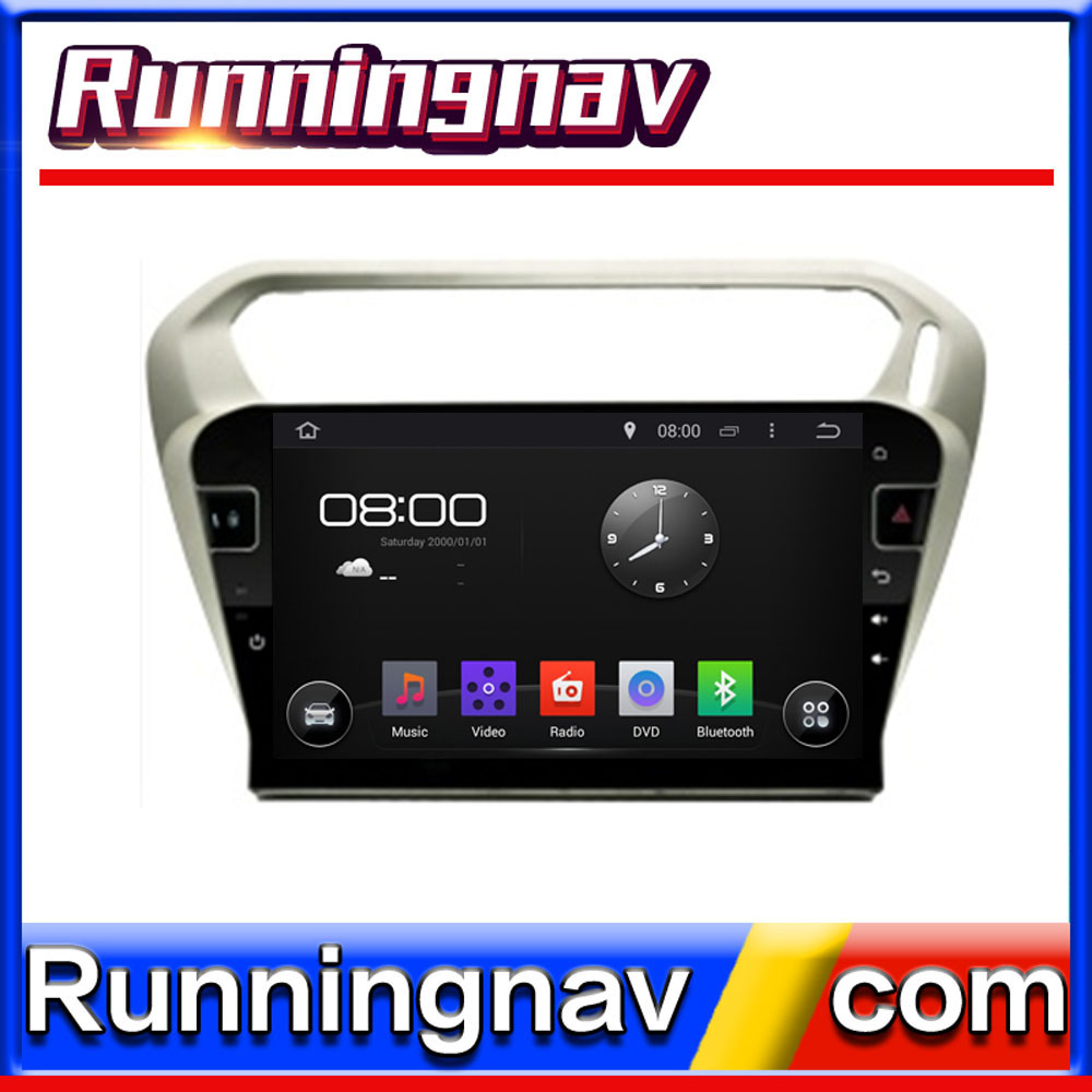"10.1"" Android For Peugeot 301 / Citroen Elysee 2 Din Quad Core / Qcta Core HD Car DVD Player GPS Navigation Radio"