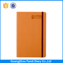 Professional stationery hot sale hardcover elastic band pu notebook