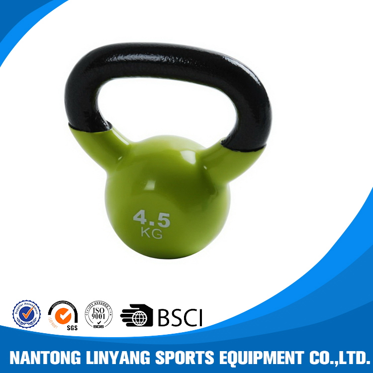 Newest new arrival powder coat cast iron kettlebell