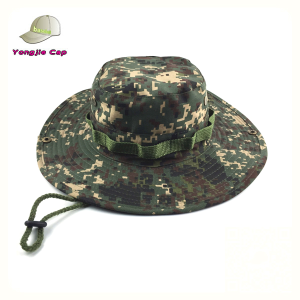 Hot woodland camouflage hat military jungle fabric bucket hat pattern