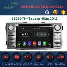 Android 4.4 Quad-Core Car dvd player/gps navigation/dvd radio for Toyota Hilux 2012 Supports OBD, DAB,Mirror Link, Wifi, TPMS