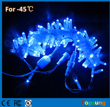 10m connectable Anti Cold blue LED Strings lights w/ bubble shell 100 bulbs IP65