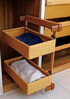 Wardrobe side mount Storage Basket With Silent Soft Colsing