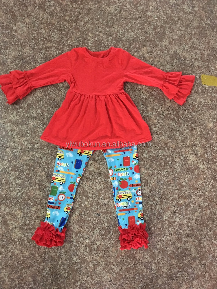baby clothes baby girls boutique icing top with pants girls back to school outfits clothes with matching