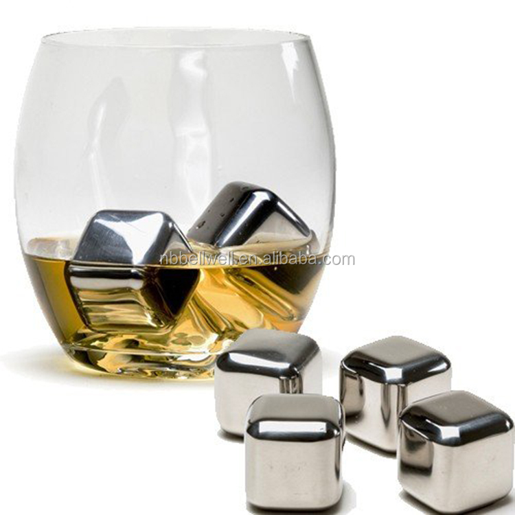 304 Stainless steel whisky stones/ whiskey ice cubes/ whisky ice rocks