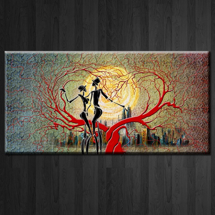Abstract canvas art printed custom pictures for decor