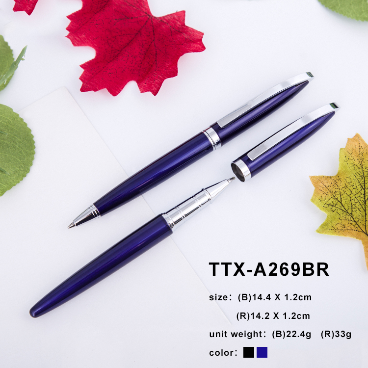 Creative 0.5mm Brand Metal Roller Ball Pen Luxury Ballpoint Pen For Business Writing Gift