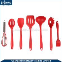 10 Piece Silicone Kitchen Baking Utensil Set - Spatula, Spoon, Basting Brush, Egg Whisk, and Slotted Turner