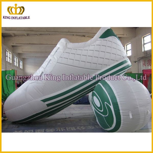 Amazing super quality giant valid inflatable shoes model,custom shaped inflatables