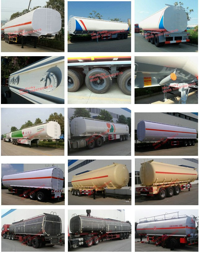 54000Liters Tri-axle Fuel Tanker Semitrailer 12Wheels Diesel Tank Trailer For Sales
