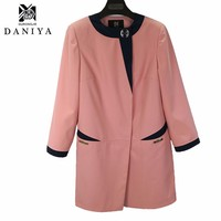 YMYD-7720 New Fashion Spring Autumn Women Trench Coat Long Outwear Plus Size Waist Clothing Factories In China Women Spring Coat