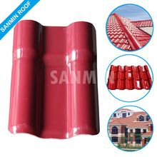 High Quality Lightweight Synthetic Resin Plastic Roofing Spanish Tiles