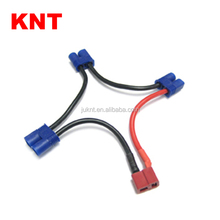 KNT T Plug Battery Harness For 3 Packs in Series Battery Connector Deans Female to EC3 Plug Adapter
