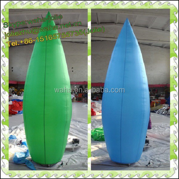 3m tall Green/blue/white Inflatable pillar/column for events/party/wedding roade decoration