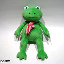 soft plush baby green frog prince toys boy urinal