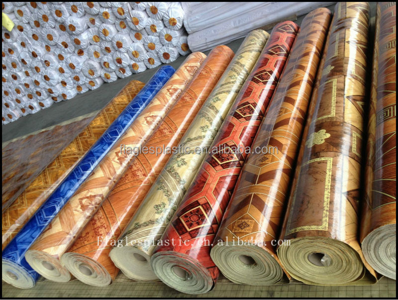 PVC Sponge Flooring Rolls 1.00MM Printed Colors