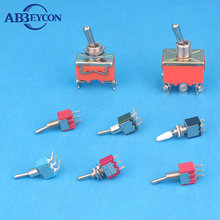 mini 3 pin screw terminal dpdt momentary toggle switch