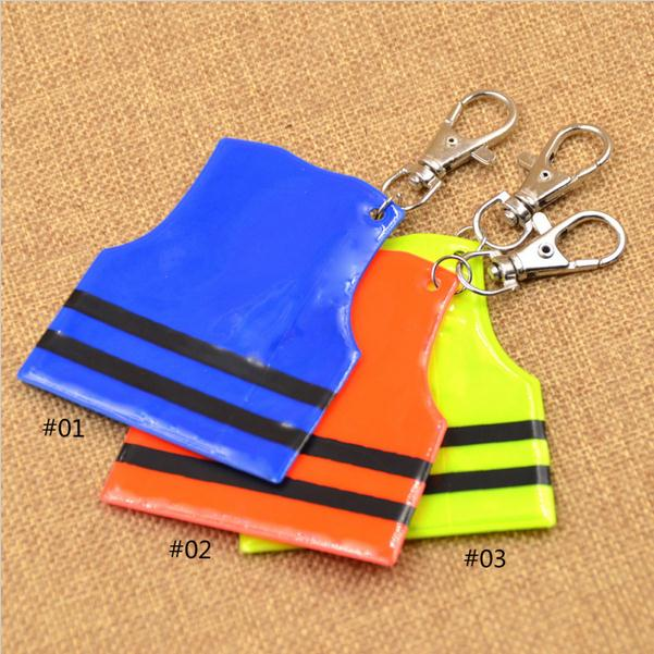 fashion Cool Police Vest Reflective Charm Keychain Mobile Phone Strap Pendant Key Ring
