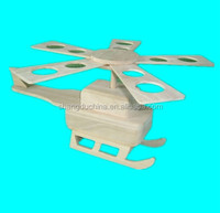 Handmade natural art mind wooden flying airplane toy wholesale