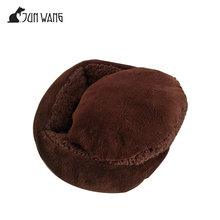 Modern chic round coffee heating snoozy sherling pet cup shape cat bed
