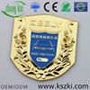 Jingchu Car Club gold metal car emblem, custom gold flower engraved and car pattern design, OEM/ODM service is provided