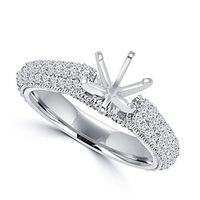 Round Cut Diamond Semi Mounting Set Engagement Ring