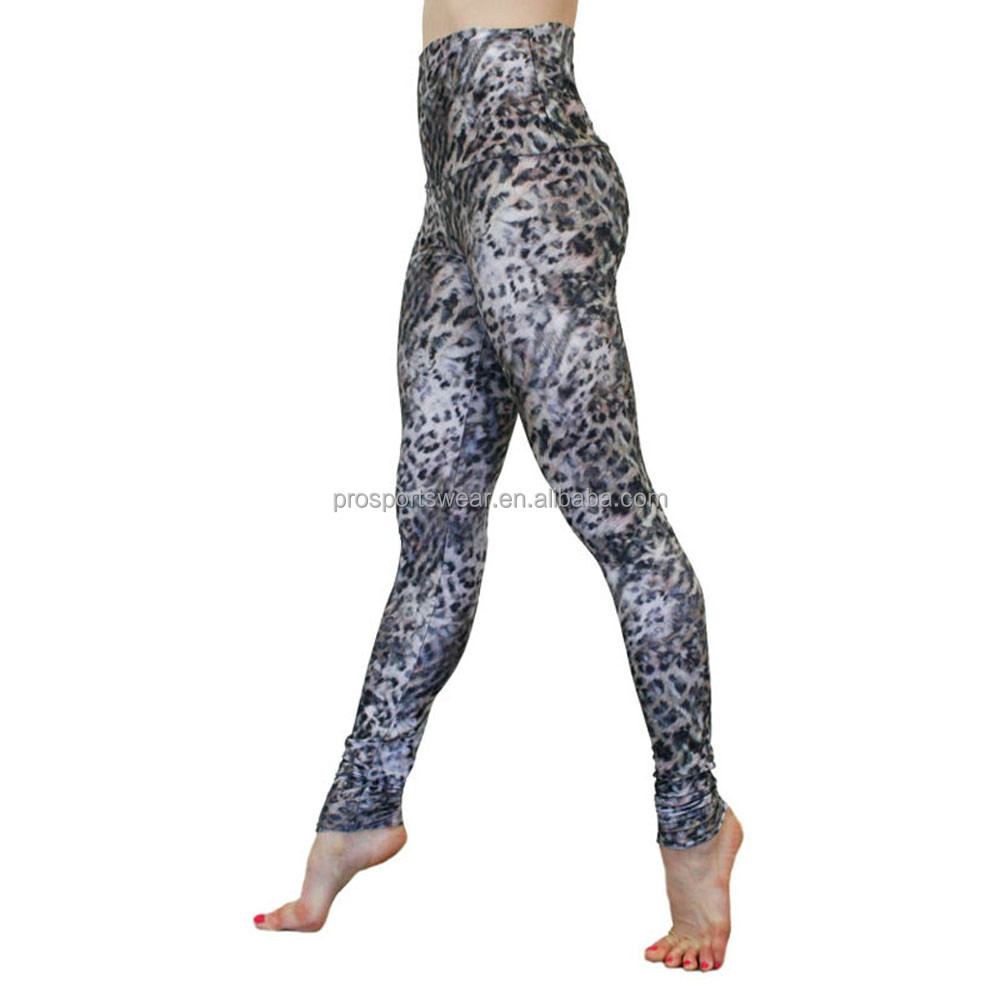 Custom Leopard Printed Leggings Yoga Pants Yoga Wear for Women