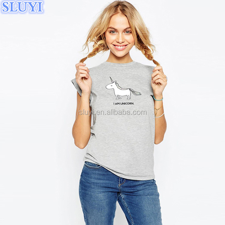 ladies shirts plus size cute cartoon printed summer grey t shirt women short sleeve o-neck 95% cotton 5% spandex t-shirts