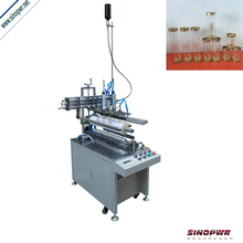 Semi-automatic cylinder gluing machine for painted sheets