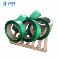 Alibaba China Factory Green PET Strap Band embossed polyester strapping band