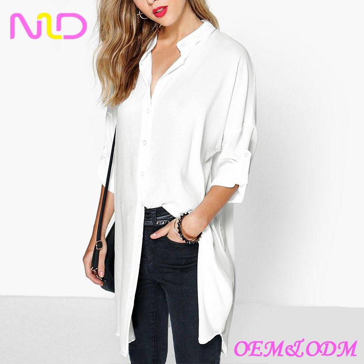 new fashion cheap long sleeve oversized shirt women
