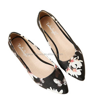 comfortable fashion genuine leather ladies shoes flat shoes for women