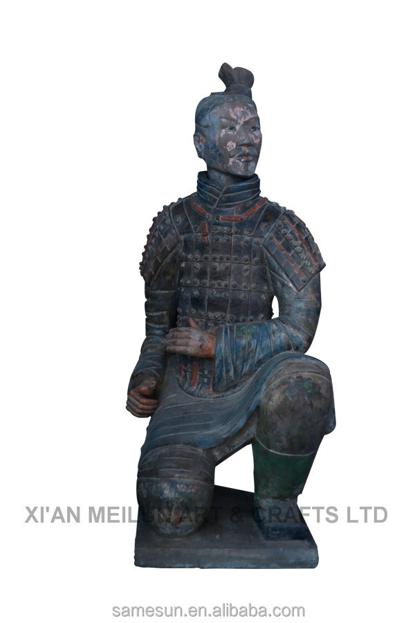 Kneeling Archer Chinese Clay Terracotta Warriors Replica Souvenir