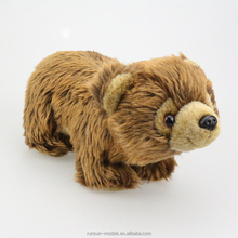 Cute Warm Big Eyes Smile Brown Bear Small Plush Stuffed <strong>Animals</strong> for Wholesale