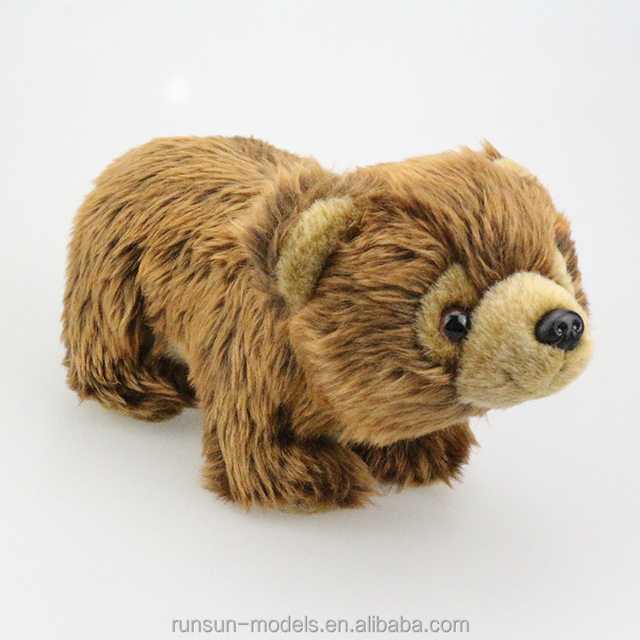 Cute Warm Big Eyes Smile Brown Bear Small Plush Stuffed Animals for Wholesale